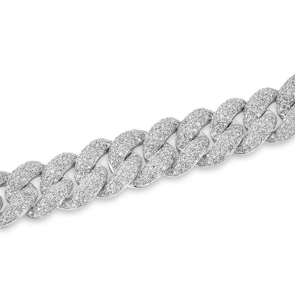 14KT White Gold Diamond Amalie Chain Link Bracelet