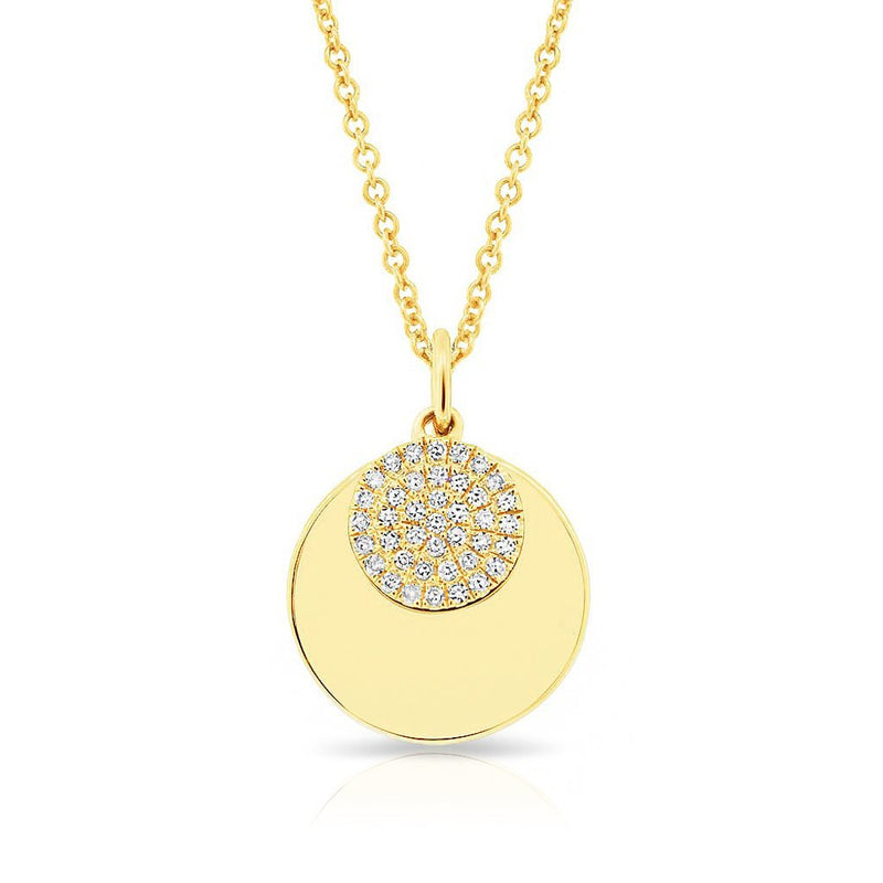 14KT Yellow Gold Diamond Simone Necklace