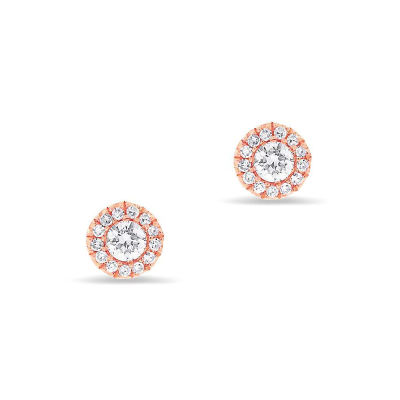 14KT Rose Gold Diamond Ava Stud Earrings