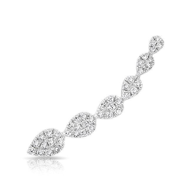 14KT White Gold Diamond Tessa Ear Climber