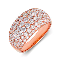 14KT Rose Gold Diamond Dome Ring