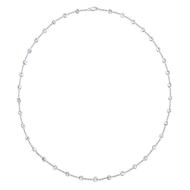 "14KT White Gold Precious Topaz 20""  Necklace"