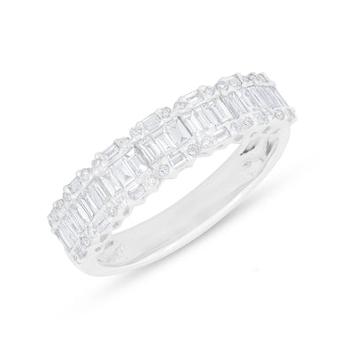 14KT White Gold Baguette Diamond Ysabel Ring