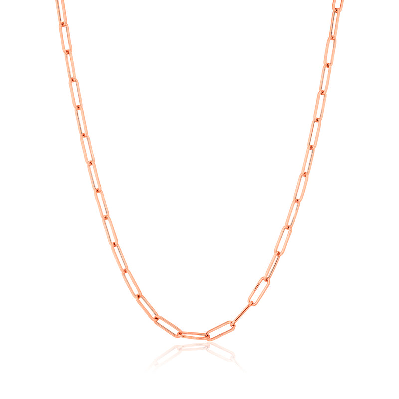 14KT Rose Gold Paper Clip Necklace