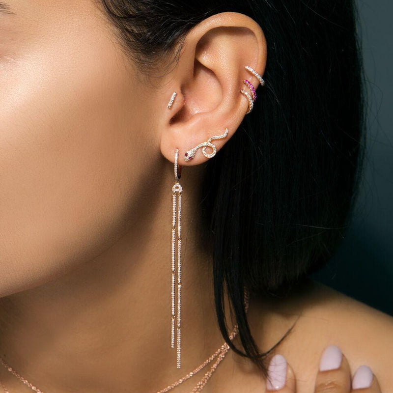 14KT Rose Gold Diamond Lola Hinge Ear Cuff
