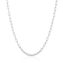 "14KT White Gold 18"" Linked Chain Lyla Necklace"