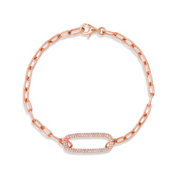 14KT Rose Gold Diamond Chain Link Maeve Bracelet