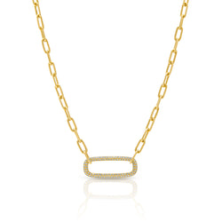 14KT Yellow Gold Diamond Chain Link Maeve Necklace