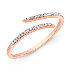 14KT Rose Gold Diamond Open Embrace Ring