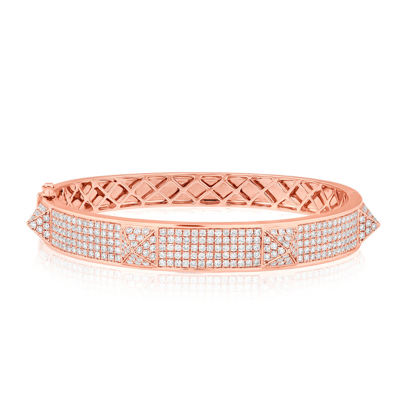 14KT Rose Gold Diamond Reverie Bangle Bracelet