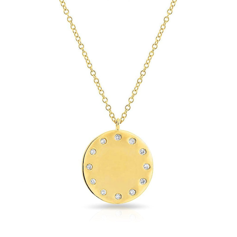14KT Yellow Gold Diamond Stella Necklace