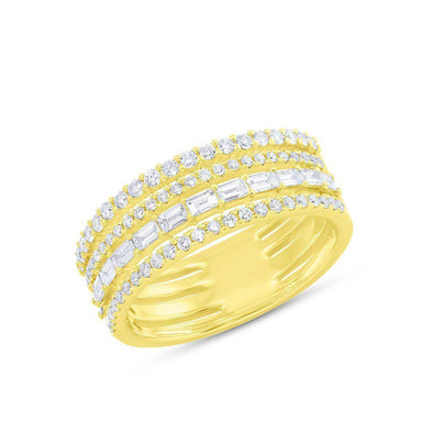 14KT Yellow Gold Diamond Baguette Eternity Ring