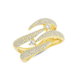 diamond flame tip ring
