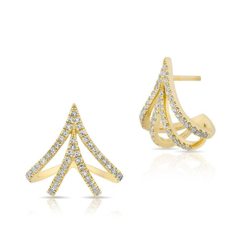 14KT Yellow Gold Diamond Valentina Earrings