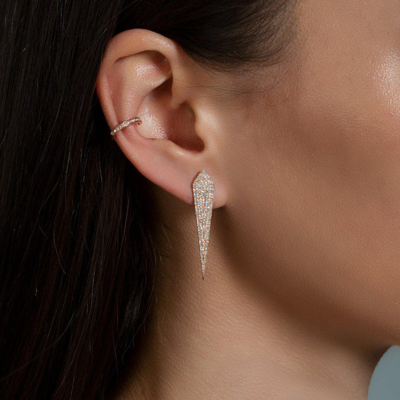14KT Rose Gold Diamond Spear Earrings
