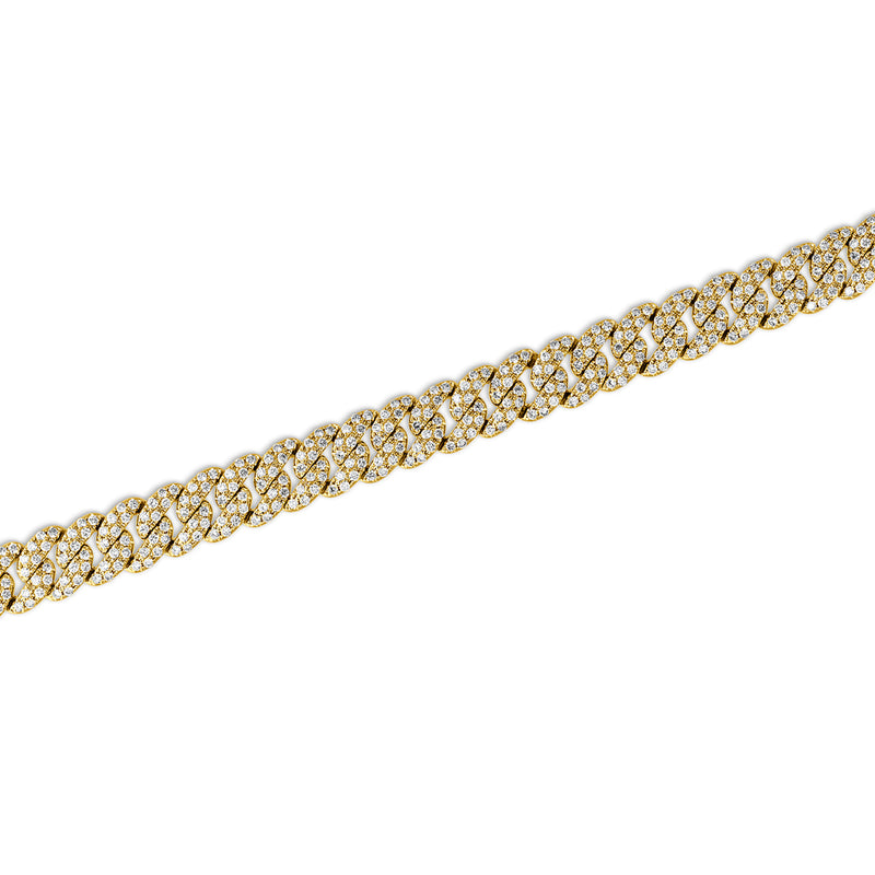 14KT Yellow Gold Diamond Carter Chain Link Bracelet