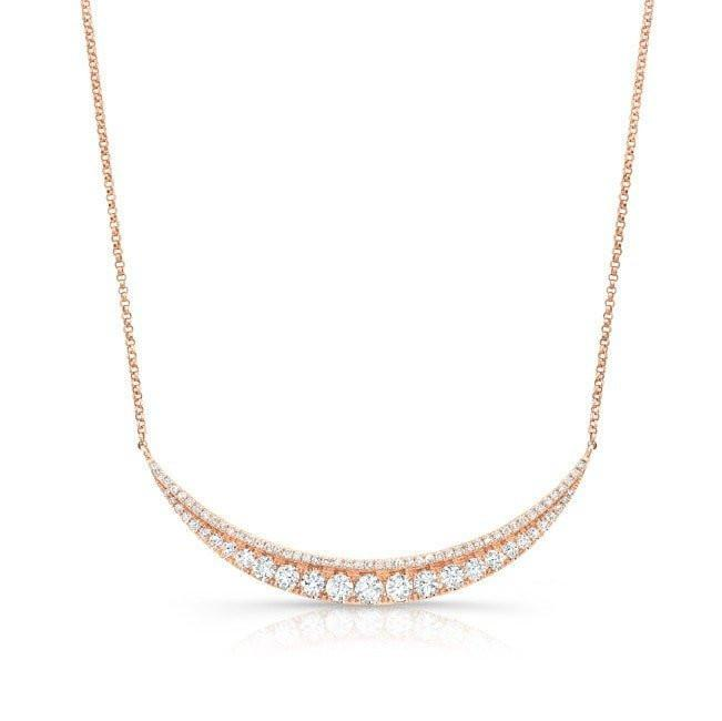 14KT Rose Gold Diamond Eclipse Necklace