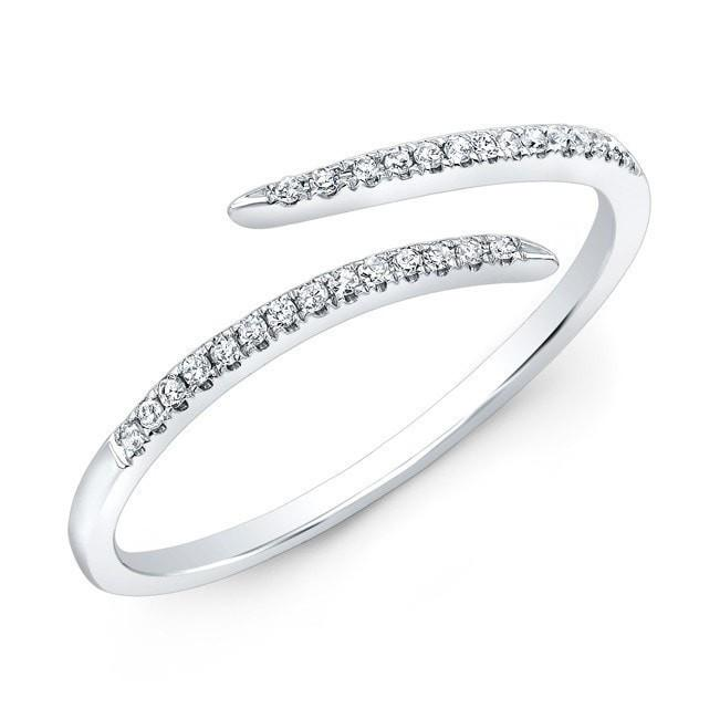 14KT White Gold Diamond Open Embrace Ring