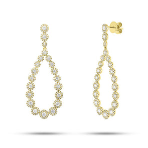 14KT Yellow Gold Diamond Vanessa Earrings