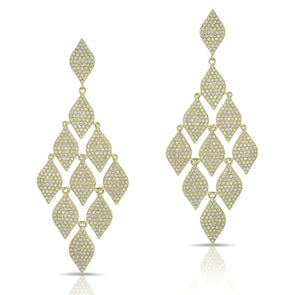 14KT Yellow Gold Diamond Luxe Chime Earrings