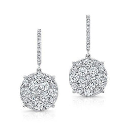 18KT White Gold Diamond Anne Earrings