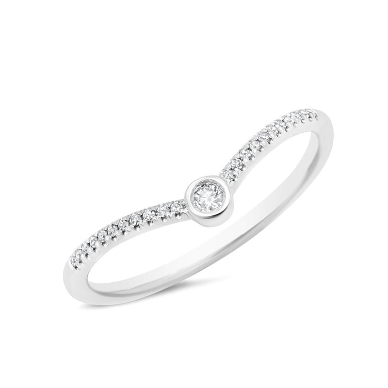 14KT White Gold Diamond Vera Ring