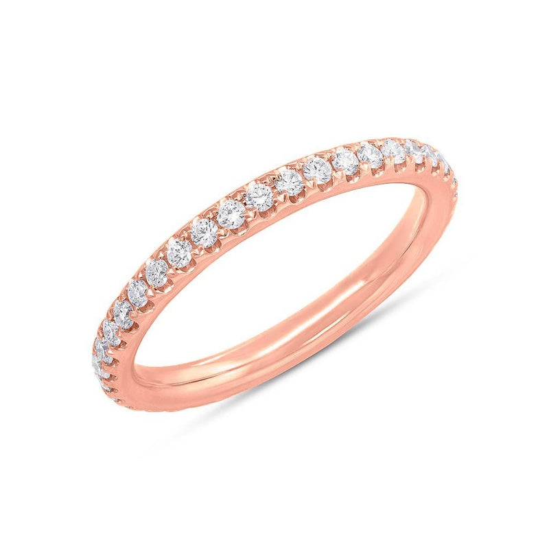 14KT Rose Gold Diamond Luxe Eternity Stacking Ring