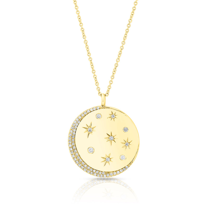 14KT Yellow Gold Diamond Stellar Necklace