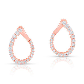 14KT Rose Gold Diamond Merida Earrings