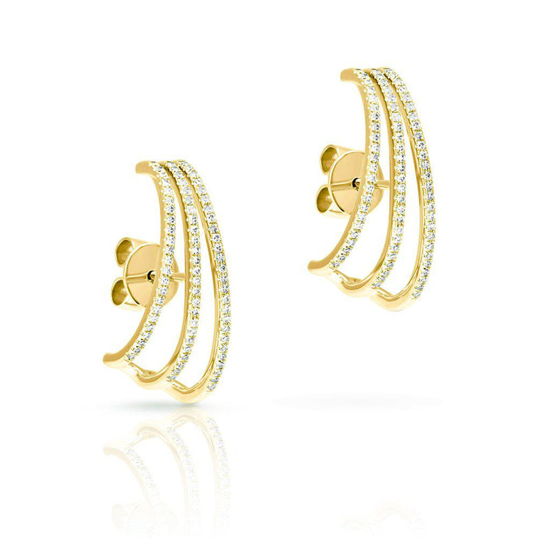 14KT Yellow Gold Diamond Gwen Suspender Earrings