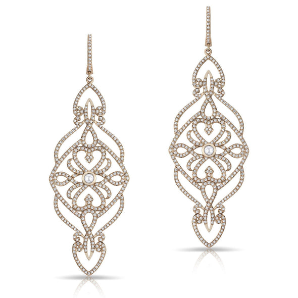 14KT Rose Gold Diamond Manoir Diamond Earrings