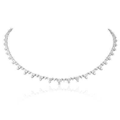 14KT White Gold Diamond Luxe Clara Necklace