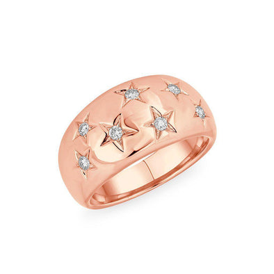 14KT Rose Gold Diamond Starlight Ring