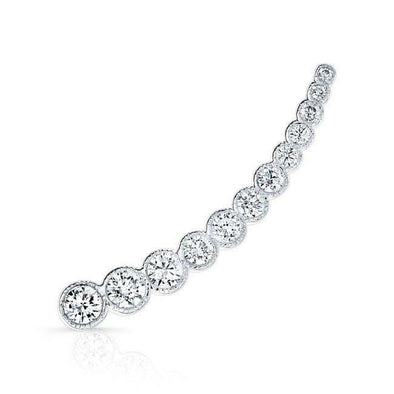 14KT White Gold Diamond Luxe Shooting Star Ear Climber