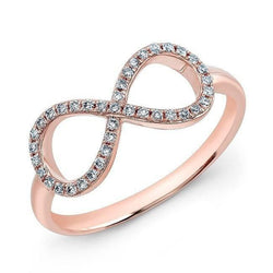 14KT Rose Gold Diamond Large Infinity Ring