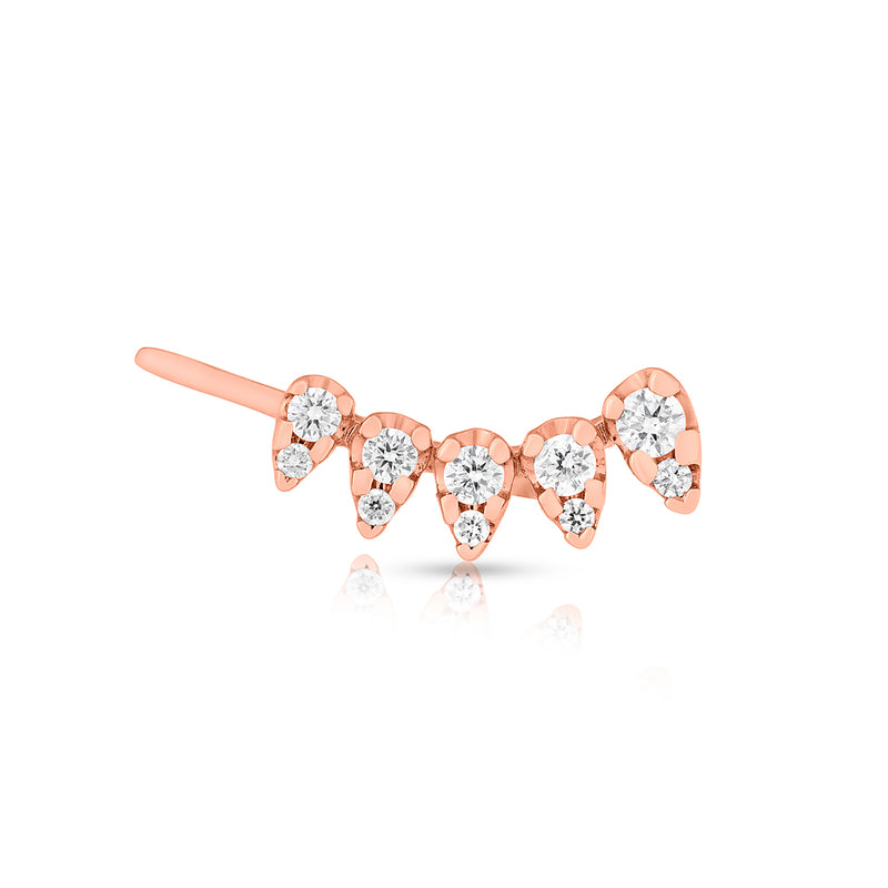 14KT Rose Gold Diamond Duchess Ear Climber