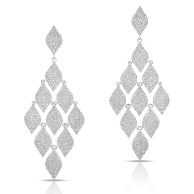 14KT White Gold Diamond Luxe Chime Earrings