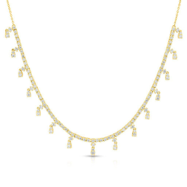 14KT Yellow Gold Diamond Victoria Necklace