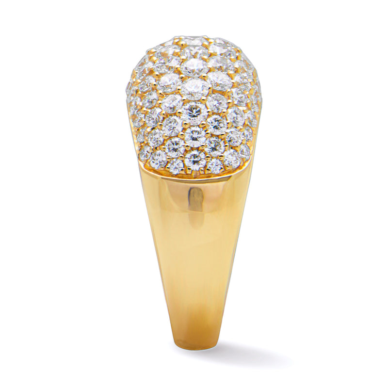 14KT Yellow Gold Diamond Dome Ring