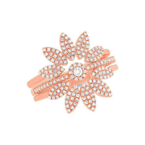 14KT Rose Gold Diamond Lady Jane Ring Set