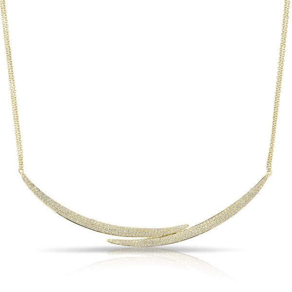 14KT Yellow Gold Diamond Horn Wrap Necklace