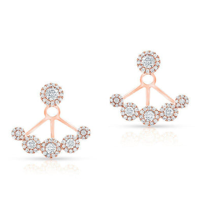 14KT Rose Gold Diamond Carissa Floating Earrings