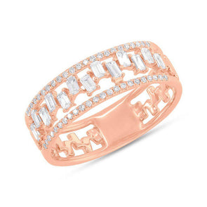 diamond baguette scattered design style ring