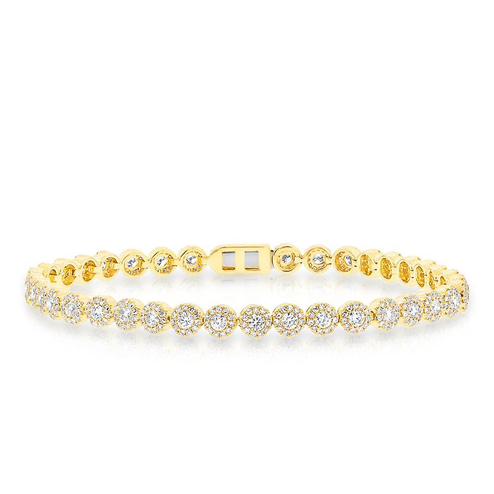 14KT Yellow Gold Diamond Love Collection Luxe Tennis Bracelet