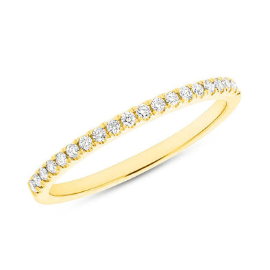 14KT Yellow Gold Diamond Jessie Half Eternity Band Ring