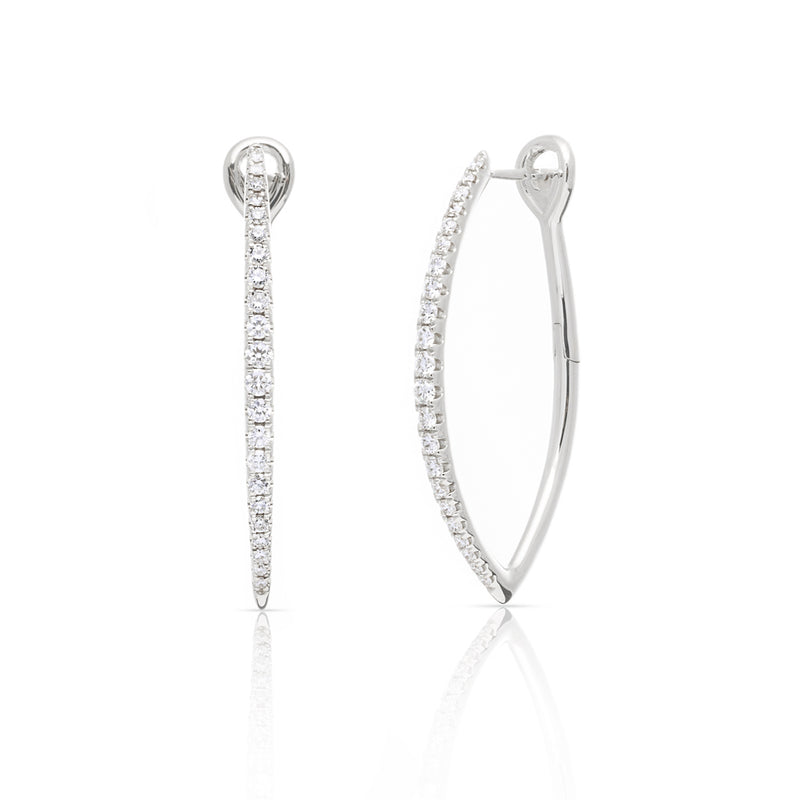 14KT White Gold Diamond Mariana Earrings