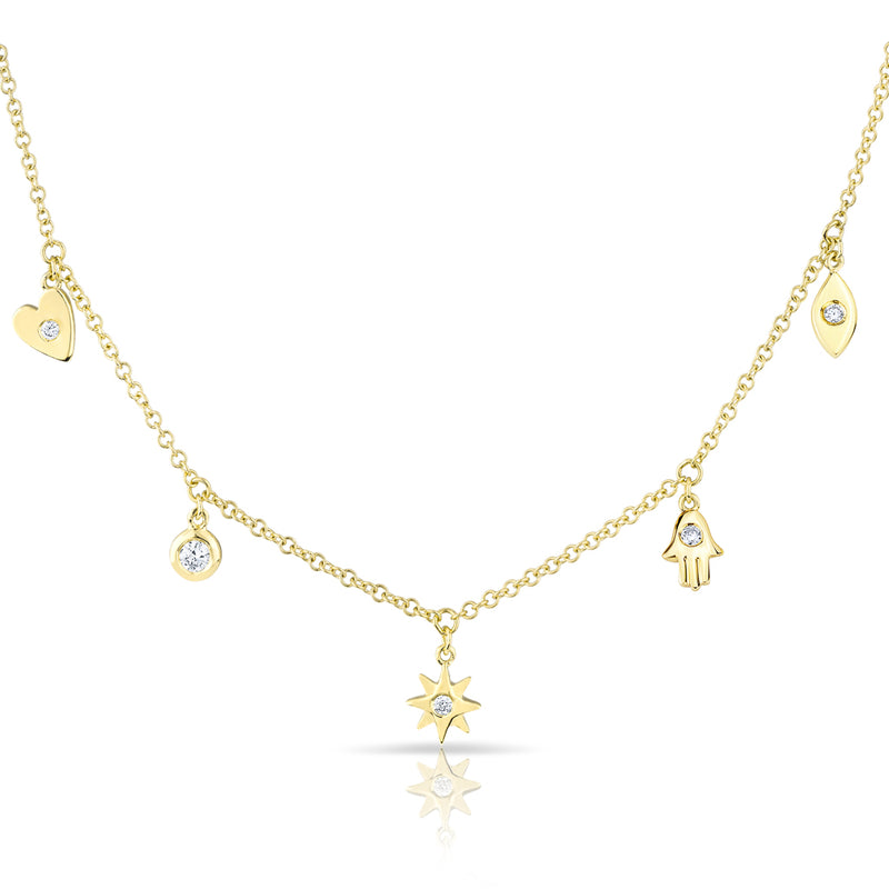 14KT Yellow Gold Diamond Penelope Necklace