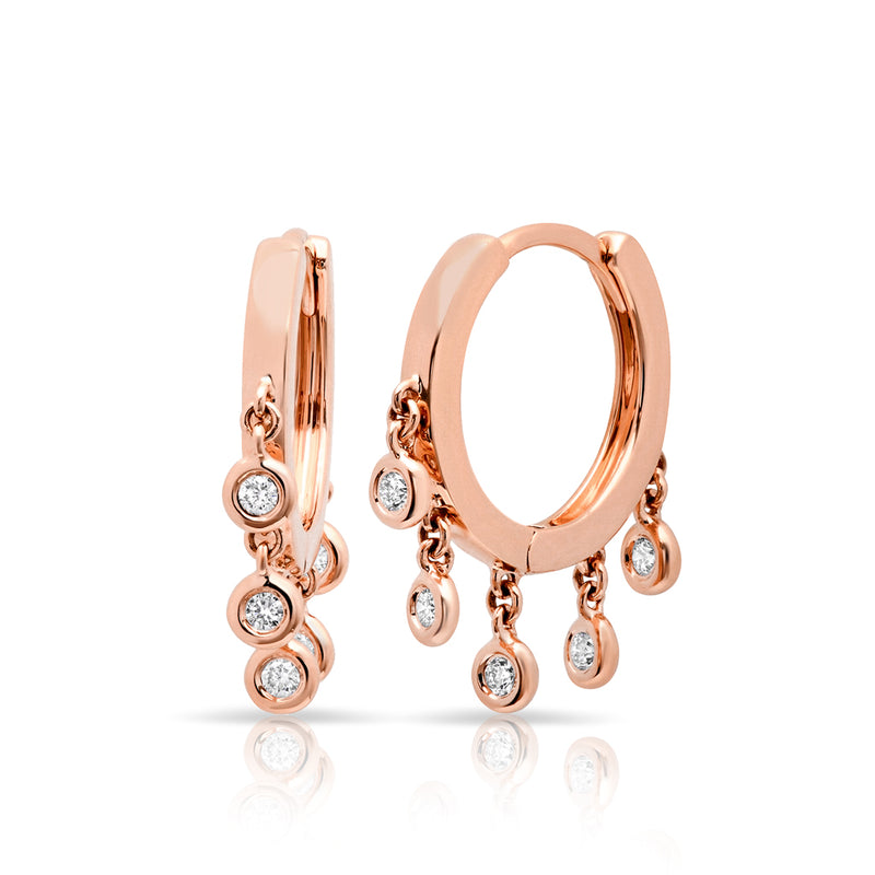 14KT Rose Gold Diamond Mini Nile Earrings