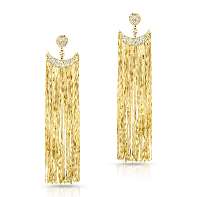 14KT Yellow Gold Diamond Arabella Drop Earrings