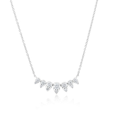 14KT White Gold Diamond Duchess Necklace